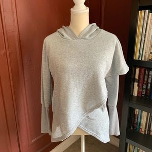 Faux Wrap Around Hoodie